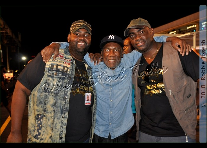 "Len ""Boogsie"" Sharpe - arranger for Phase II Pan Groove (center)"