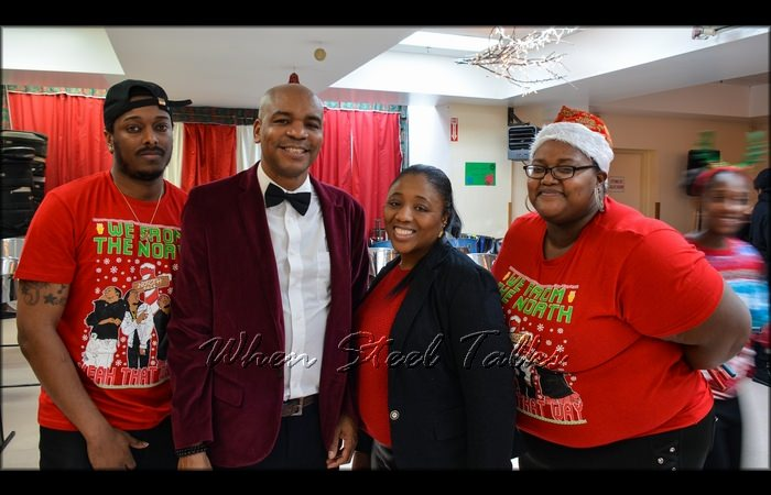 Hunte, Travis Roberts (CASYM President), Michelle Williams-Pierre-Louis, and Lakeisha Danglade at the organization's 2018 Christmas Concert