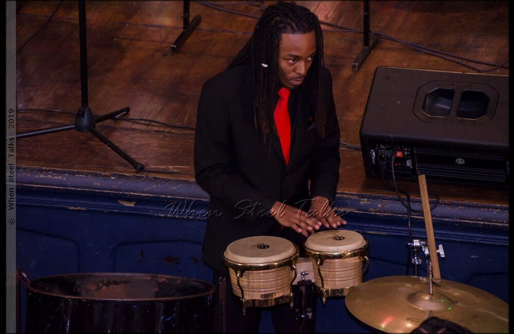 Damany James, arranger for CrossFire Steel Orchestra