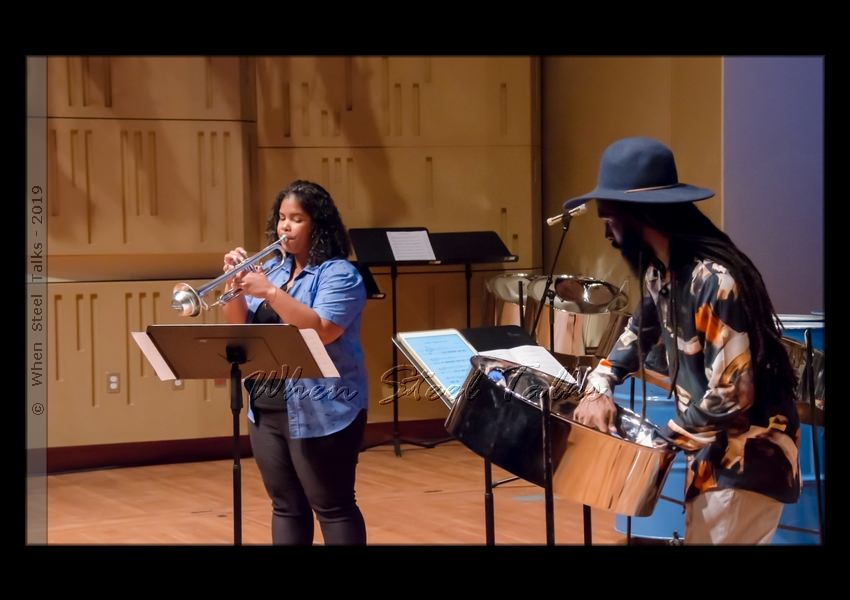Minerva Johnson on trumpet with Kendall Williams