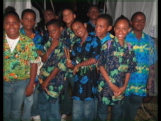 Members of Holy Family Cathedral Junior Steel Orchestra after their performance