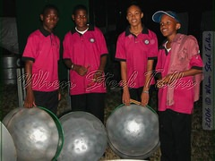 Members of Potters Moravian Zionites after their performance
