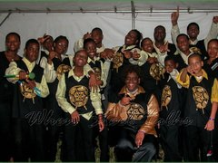 Golden Hands Steel Orchestra from Trinidad & Tobago, after their performance